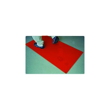Staub-Stopp-Matte Rot/Gelb - 2 Matten à 30 Klebefolien rot / Karton