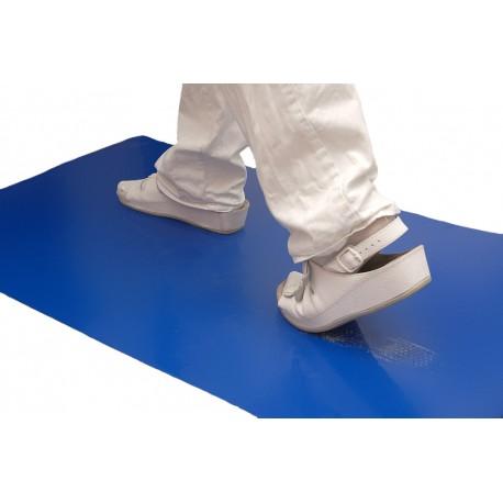 Staub-Stopp-Matte blau – antibakteriell – 2 Matten à 30 Klebefolien / Karton