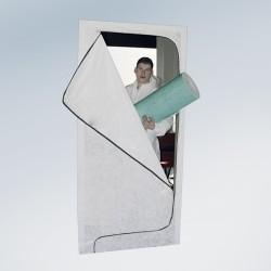 Vlies-Staubschutztür