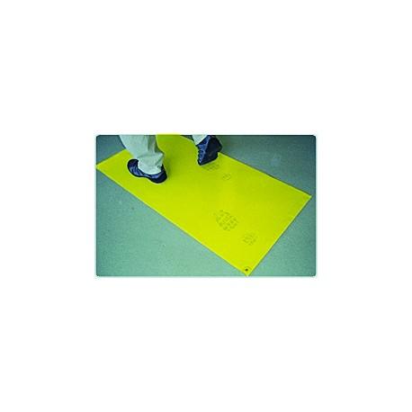 Staub-Stopp-Matte Rot/Gelb - 2 Matten à 30 Klebefolien gelb / Karton